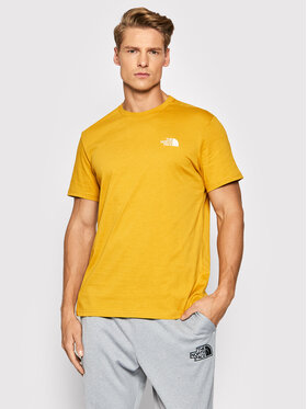 The North Face The North Face Тишърт Simple Dome NF0A2TX5H9D1 Жълт Regular Fit