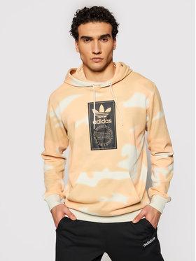 adidas adidas Majica dugih rukava Camo Allover Print GN1880 Bež Regular Fit