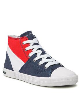 Tommy Hilfiger Tommy Hilfiger Trampki High Lace Up Sneaker T3X4-32061-0890 S Granatowy