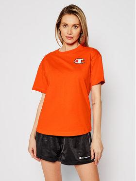 Champion Champion T-shirt Patch 112651 Arancione Custom Fit