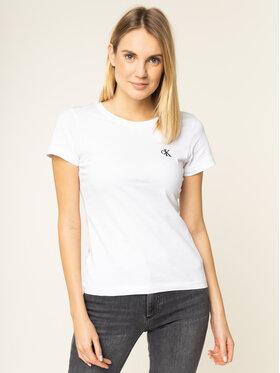 Calvin Klein Jeans Calvin Klein Jeans T-Shirt J20J212883 Biały Slim Fit
