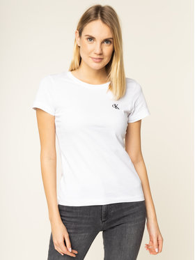 Calvin Klein Jeans Calvin Klein Jeans T-Shirt J20J212883 Λευκό Slim Fit