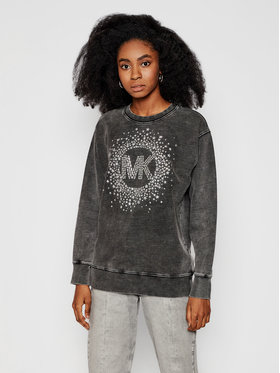 MICHAEL Michael Kors MICHAEL Michael Kors Felpa Star Embellished Logo MH05MTJD8L Grigio Relaxed Fit