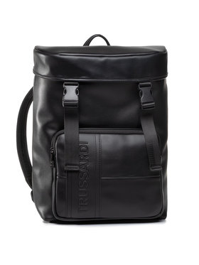Trussardi Jeans Trussardi Jeans Rucksack Courmayeur Backpack Md Smooth 71B00223 Schwarz
