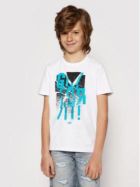 4F 4F T-Shirt HJL21-JTSM004 Bílá Regular Fit