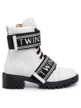 TwinSet Outdoorová obuv Anfibio 201TCP132 Biela