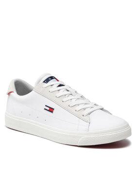 Tommy Jeans Tommy Jeans Sneakers Leather Low Cut Vulc EN0EN01502 Alb