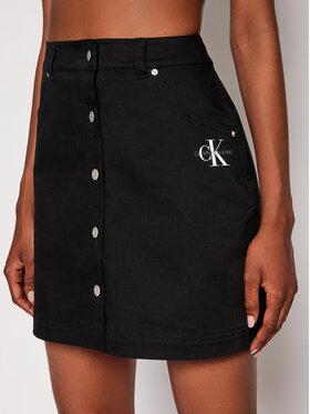 Calvin Klein Jeans Calvin Klein Jeans Džínsová sukňa J20J215720 Čierna Regular Fit