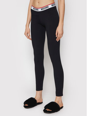 MOSCHINO Underwear & Swim MOSCHINO Underwear & Swim Leggings ZUA4327 9003 Crna Slim Fit