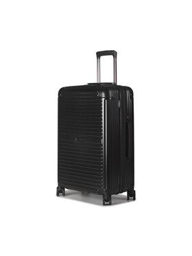 Puccini Puccini Közepes keményfedelű bőrönd Dallas PC027B 1 Fekete