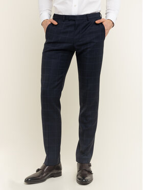 Digel Digel Spodnie garniturowe 1293416 Granatowy Regular Fit