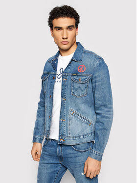 Wrangler Wrangler Giacca di jeans The Wrider W4MJUG Blu scuro Regular Fit