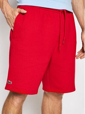 Lacoste Lacoste Sportovní kraťasy GH2136 Červená Regular Fit