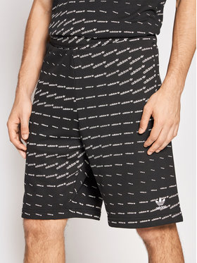 adidas adidas Szorty sportowe Graphics Monogram H13488 Czarny Regular Fit
