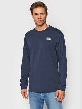The North Face The North Face Longsleeve Simple Dome NF0A3L3BH2G1 Granatowy Regular Fit