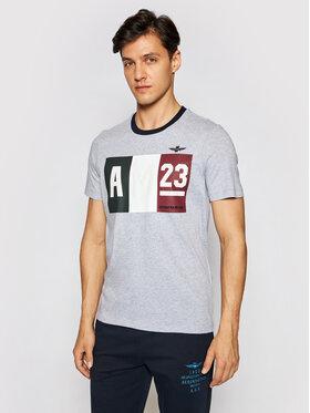 Aeronautica Militare Aeronautica Militare T-Shirt 211TS1866J492 Grau Regular Fit