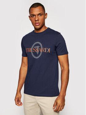 Trussardi Trussardi Tricou 52T00507 Bleumarin Regular Fit