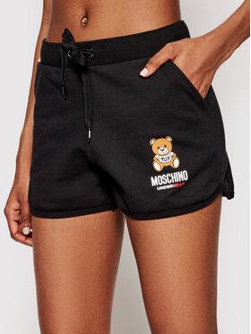 MOSCHINO Underwear & Swim MOSCHINO Underwear & Swim Športové kraťasy 4310 9020 Čierna Regular Fit