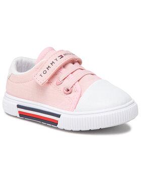 Tommy Hilfiger Tommy Hilfiger Trampki Low Cut Lace-Up/Velcro Sneaker T1A4-31007-0890 Różowy
