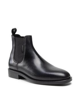 Gant Gant Členková obuv s elastickým prvkom Brockwill 23651177 Čierna