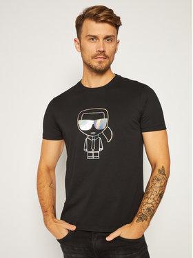 KARL LAGERFELD KARL LAGERFELD T-Shirt Crewneck 755041 502224 Černá Regular Fit