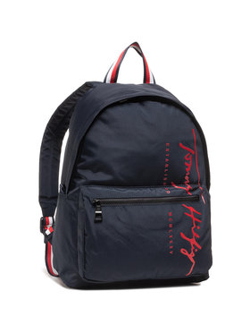 Tommy Hilfiger Tommy Hilfiger Plecak Th Signature Backpack AM0AM06394 Granatowy
