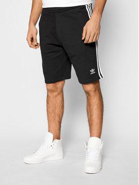 adidas adidas Szorty sportowe 3-Stripe DH5798 Czarny Regular Fit