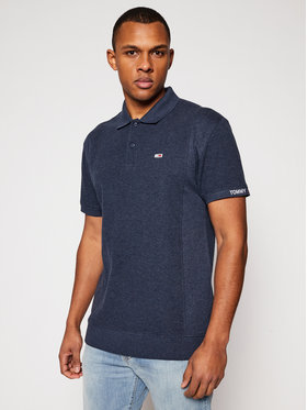 Tommy Jeans Tommy Jeans Polo marškinėliai Heritage Mini Waffle DM0DM10587 Tamsiai mėlyna Relaxed Fit