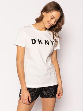 DKNY DKNY T-Shirt W3276CNA Biały Regular Fit