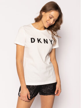 DKNY DKNY T-Shirt W3276CNA Bílá Regular Fit