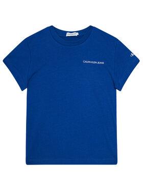 Calvin Klein Jeans Calvin Klein Jeans Marškinėliai Chest Logo IB0IB00456 Tamsiai mėlyna Regular Fit