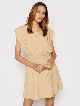 Rinascimento Rinascimento Sukienka letnia CFC0103488003 Beżowy Regular Fit