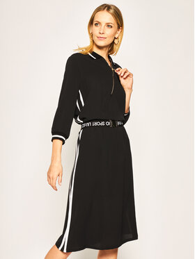 Liu Jo Sport Liu Jo Sport Φόρεμα καθημερινό TA0204 T8552 Μαύρο Regular Fit