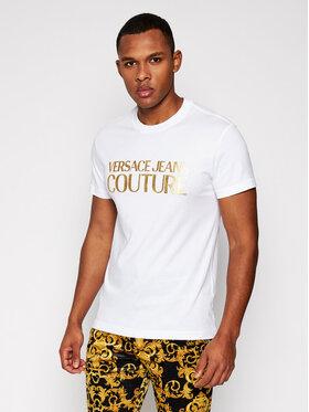 Versace Jeans Couture Versace Jeans Couture T-Shirt B3GWA7TB Bílá Slim Fit
