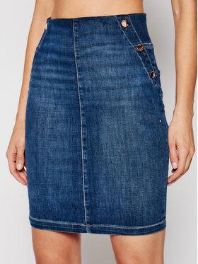 Guess Guess Jupe en jean W1GD60 D4CS3 Bleu marine Slim Fit