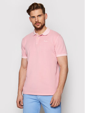 Pepe Jeans Pepe Jeans Polo Vincent Gd PM541225 Różowy Slim Fit