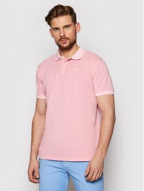 Pepe Jeans Pepe Jeans Тениска с яка и копчета Vincent Gd PM541225 Розов Slim Fit