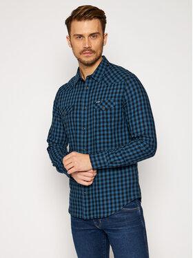 Wrangler Wrangler Marškiniai Ls Western W5F03OB16 Tamsiai mėlyna Slim Fit