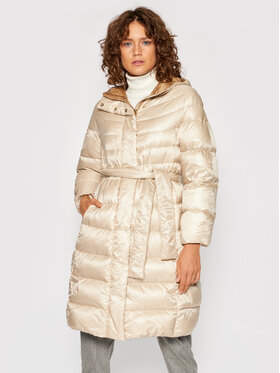 Peserico Peserico Zimní kabát S24390A Béžová Regular Fit