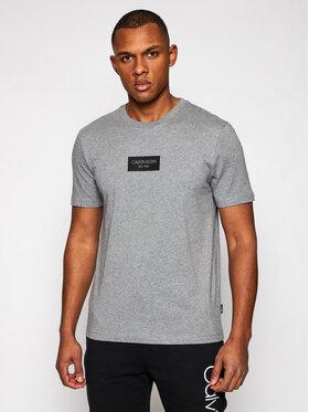 Calvin Klein Calvin Klein T-Shirt Chest Box Logo K10K106484 Šedá Regular Fit