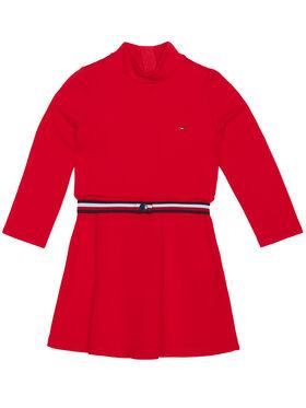 TOMMY HILFIGER TOMMY HILFIGER Každodenní šaty Essential Skater KG0KG05437 M Červená Regular Fit