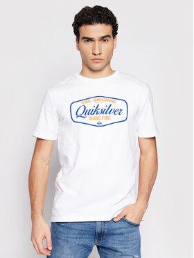 Quiksilver Quiksilver T-Shirt Cut To Now Ss EQYZT06377 Bílá Regular Fit