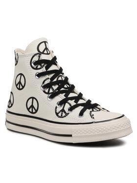 Converse Converse Sneakers aus Stoff Chuck 70 Hi Egret 167912C Beige
