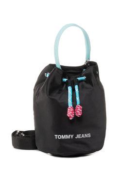 Tommy Jeans Tommy Jeans Geantă Tjw Natutical Mix Sm Bucket Nyl AW0AW08052 Negru