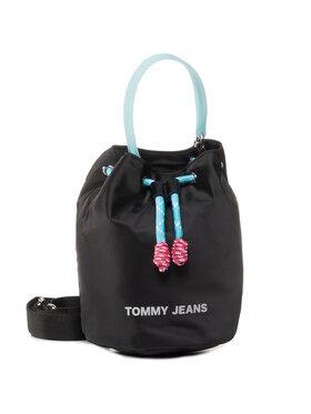 Tommy Jeans Tommy Jeans Táska Tjw Natutical Mix Sm Bucket Nyl AW0AW08052 Fekete