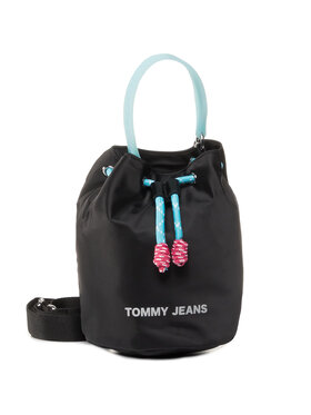 Tommy Jeans Tommy Jeans Τσάντα Tjw Natutical Mix Sm Bucket Nyl AW0AW08052 Μαύρο