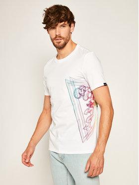 Guess Guess T-Shirt Whire Frame Cn Ss Tee M0YI45 K8HM0 Bílá Slim Fit