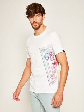 Guess Guess T-shirt Whire Frame Cn Ss Tee M0YI45 K8HM0 Blanc Slim Fit