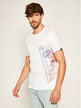 Guess Guess Тишърт Whire Frame Cn Ss Tee M0YI45 K8HM0 Бял Slim Fit