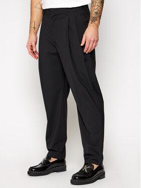 MSGM MSGM Kalhoty z materiálu 2940MP06 207519 Černá Regular Fit